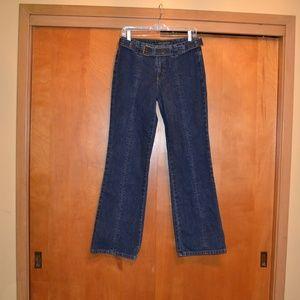 DKNY Trouser Style Belted Denim Jean Size 6